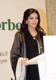 Her Highness Princess Ameerah Al Taweel. DUBAI - UAE - MARCH 11 2012: Her Highness Princess Ameerah Al Taweel wife of Prince Alwaleed bin Talal speaks at the Stock Photo