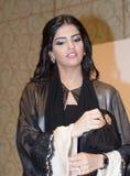 Her Highness Princess Ameerah Al Taweel. DUBAI - UAE - MARCH 11 2012: Her Highness Princess Ameerah Al Taweel wife of Prince Alwaleed bin Talal speaks at the Stock Images