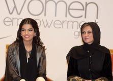 Her Highness Princess Ameerah and Sahar Al Madani. DUBAI - UAE - MARCH 11 2012: Her Highness Princess Ameerah Al Taweel wife of Prince Alwaleed bin Talal with Royalty Free Stock Photography