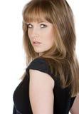her looking model over shoulder στοκ φωτογραφίες με δικαίωμα ελεύθερης χρήσης
