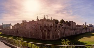 Her Majestys Royal Palace and Fortress of the Tower of London. Commonly known as simply the Tower of London, its construction was started in 1066. It has been a Royalty Free Stock Photo