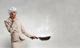 Her recipe of success . Mixed media Stock Photography