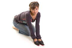 In her shoes royalty free stock photography