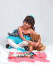 Her Teddy Bear royalty free stock photos
