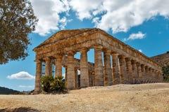 Hera寺庙在Selinunte -西西里岛-意大利的 图库摄影