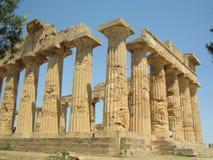 Hera寺庙在Selinunte 库存图片