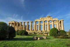Hera寺庙,在Selinunte 库存照片