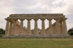Hera第一个寺庙, Paestum,意大利 免版税库存照片