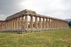 Hera第一个寺庙, Paestum,意大利 图库摄影