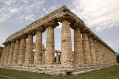 Hera第一个寺庙, Paestum,意大利 库存图片