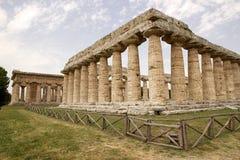 Hera第一个寺庙, Paestum,意大利 库存照片