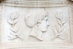 Hera. Exterior building decoration detail of Athens Academy Royalty Free Stock Photos