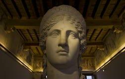 Hera greek goddess statue. Hera greek goddess marble statue portrait Royalty Free Stock Images
