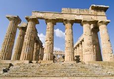 Hera's Temple. Temple of Hera goddess Hera in Selinunte, Sicily Stock Image