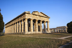Hera tempel i Paestum, Italien Royaltyfri Foto