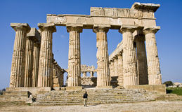 Hera Temple. The ancient Greek Hera temple in Selinunte, Sicily, Italy Stock Photos