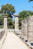 Hera Temple Olympia Greece Stock Photography