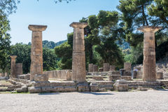 Hera Temple Olympia Greece Stock Photos