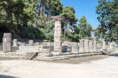 Hera Temple Olympia Greece Royalty Free Stock Photography