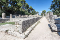 Hera Temple Olympia Greece Royalty Free Stock Photos