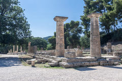Hera Temple Olympia Greece Royalty Free Stock Image
