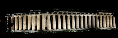 Hera Temple, Paestum Stock Photo