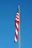 Herabhängende amerikanische Flagge Lizenzfreies Stockfoto