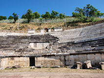 Heraclea Lyncestis, Bitola, Macedonia. The ruins of the ancient theatre in the city of Heraclea Lyncestis near Bitola, Macedonia Stock Photos