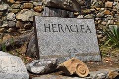 Heraclea Lyncestis, Makedonien arkivfoto