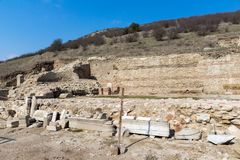 Heraclea Sintica - Ruins of ancient Greek polis,  located near town of Petrich, Bulgaria. Amazing view of Heraclea Sintica - Ruins of ancient Greek polis Stock Photo