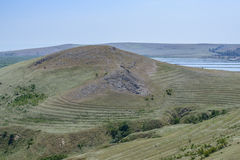 Heracleia enisala, romania, europe, landscape from the byzantine fortress Stock Images