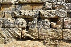 """Heracles寺庙-墙壁â€的细节""""寺庙â€的谷""""阿哥里根托†""""西西里岛†""""意大利 库存图片"""