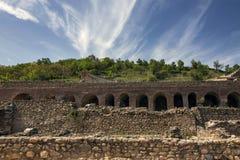 Heracles Lincastes es una ciudad antigua en el valle de Pelagonia cerca de la ciudad moderna de Bitola, Macedonia septentrional imágenes de archivo libres de regalías