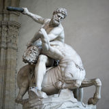 Heracles and Nessus by Giambologna, (1599), Florence Stock Image