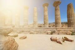 Heracles-Tempel im Agrigent-Tempel-Tal Lizenzfreie Stockfotografie