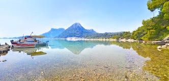Heraion湖-武利亚格迈尼Loutraki希腊 免版税库存照片