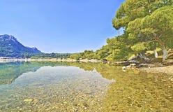 Heraion湖-武利亚格迈尼Loutraki希腊 免版税库存图片
