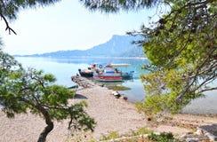 Heraion lake Loutraki Greece stock images