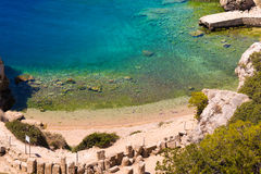 Heraion (Sanctuary of Hera) in Perachora in Greece. Stock Photo