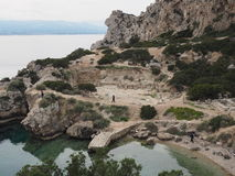 Heraion - Schongebiet und Tempel von Hera Stockfotografie