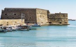Heraklinon. The Fortress in Heraklion, Crete, Greece Royalty Free Stock Photo