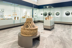 Heraklion Archaeological Museum at Crete, Greece. CRETE, GREECE - JULY 26, 2015: Heraklion Archaeological Museum, it is contains the most notable and complete Stock Images