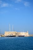 Heraklion castle and harbour, Crete. Royalty Free Stock Photography