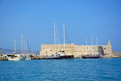 Heraklion castle and harbour, Crete. Stock Photography