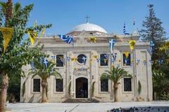 Heraklion church cathedral square, Crete stock photo
