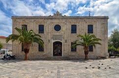 Heraklion Crete, Grecja,/: Świątynia ażio Titos jest Ortodoksalnym kościół w Heraklion, Crete, dedykujący święty Titus Fotografia Stock