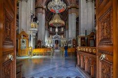 Heraklion Crete, Grecja,/: Ażio Minas katedra jest Greckokatolickim katedrą Obraz Stock