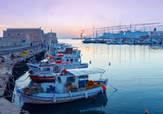 Heraklion. Fishing boats in the old port. Royalty Free Stock Images