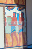 HERAKLION, GREECE - AUGUST 3, 2012: The famous fresco Royalty Free Stock Photo