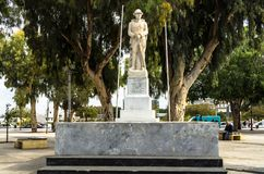 Heraklion, Greece - November, 2017: Monument to the Unknown Soldier. The monument was placed by grateful Greeks in memory of soldiers who gave their lives for Stock Photos